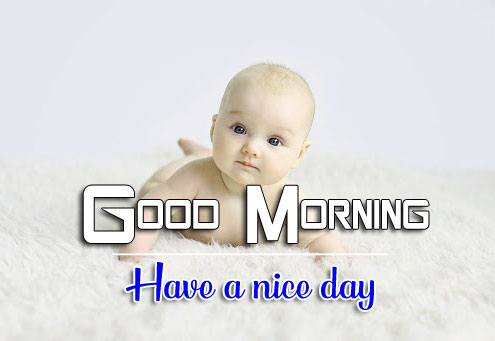 Good Morning Wishes Wallpaper With Cute Baby 2