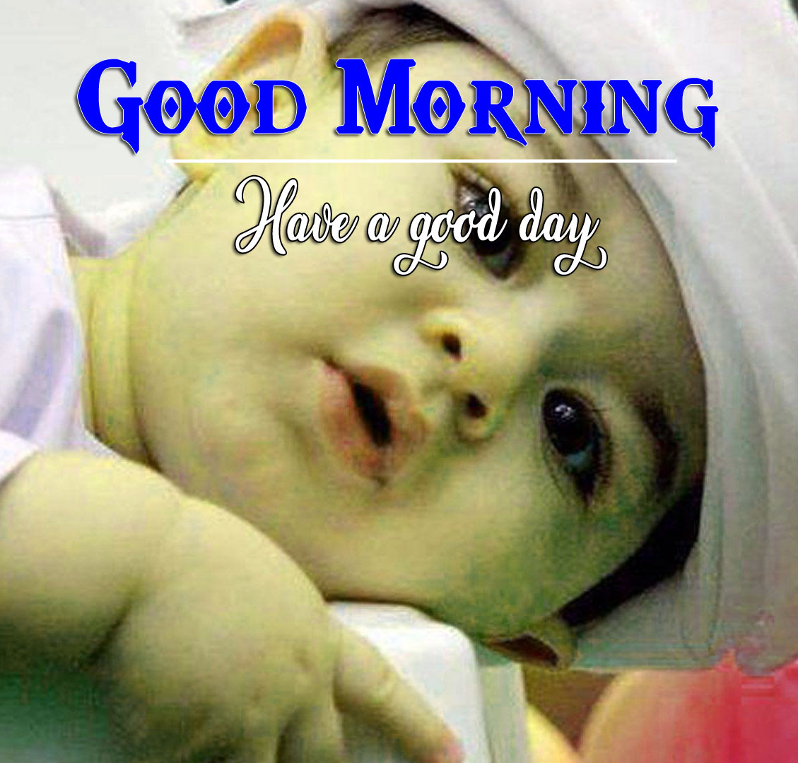 Good Morning Wishes Wallpaper With Cute Baby Boy