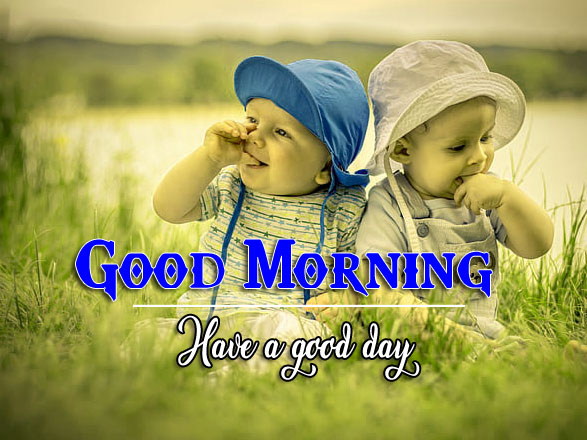 Good Morning Wishes Wallpaper With Cute Baby