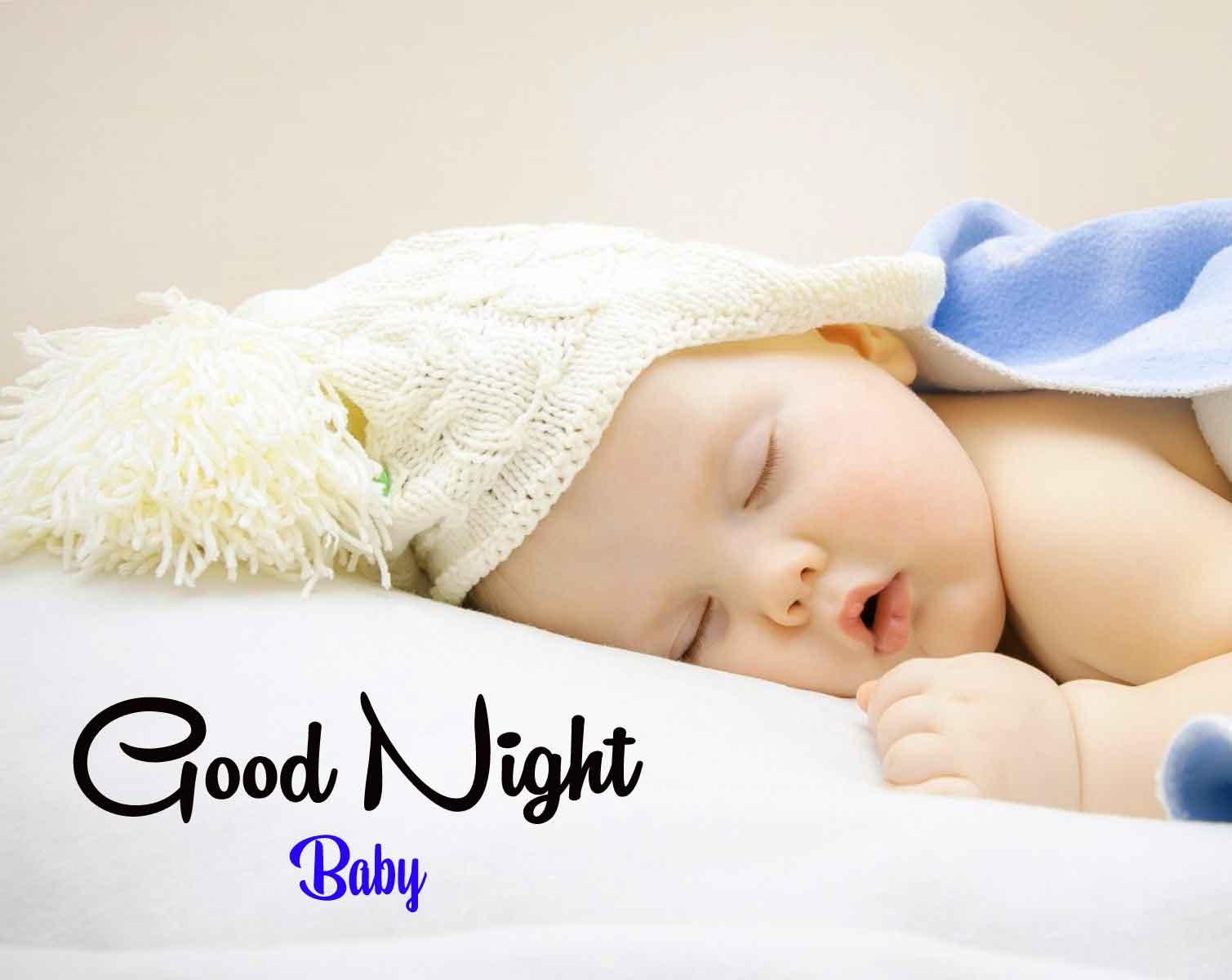 Latest HD Free good night cute baby Pics Wallpaper