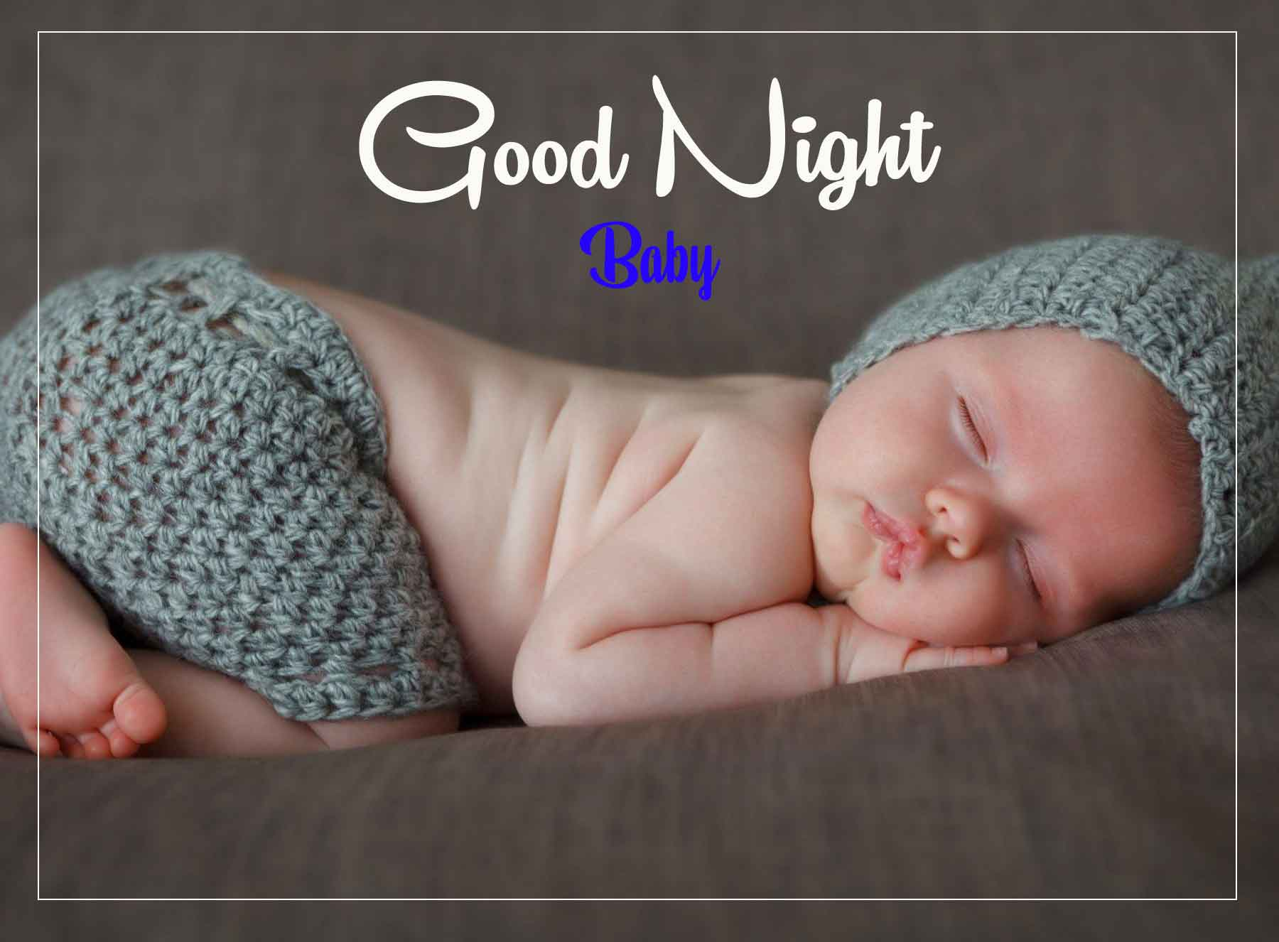 Latest HD good night cute baby Images 2