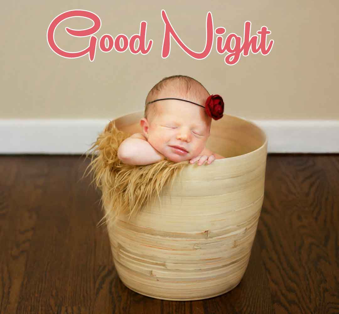 Latest HD good night cute baby Images 3