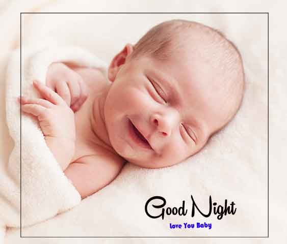 Latest HD good night cute baby Images
