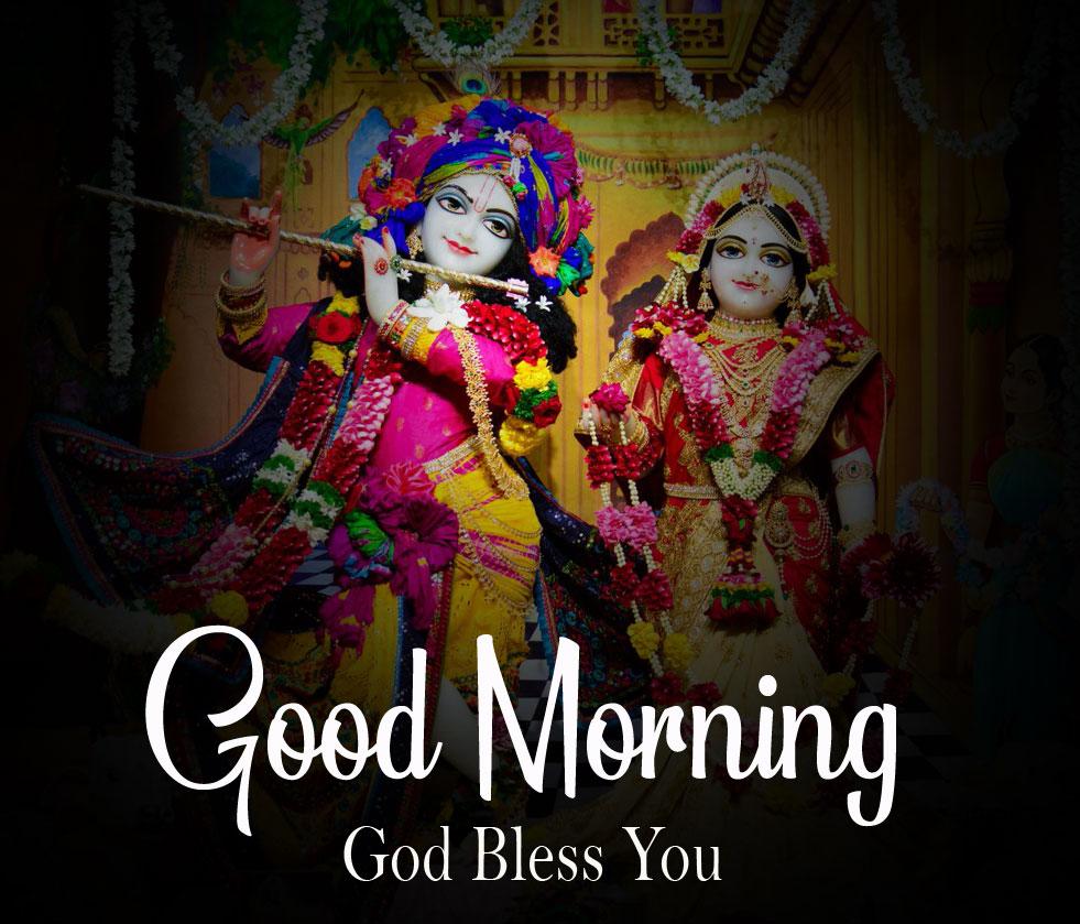 Latest Radha Krishna Good Morning Images 2021 photo