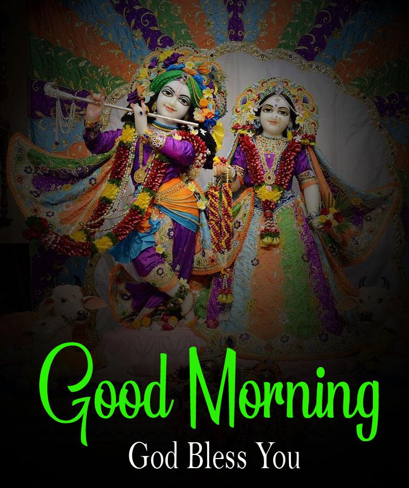 Latest Radha Krishna Good Morning Images photo 2021