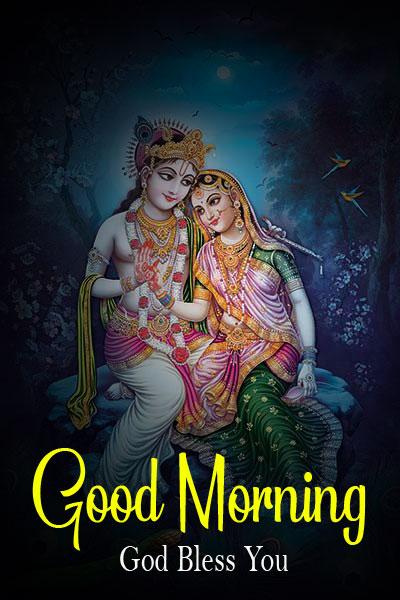 Latest Radha Krishna Good Morning Images photo for download