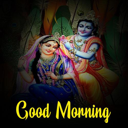 Latest Radha Krishna Good Morning Images photo for whatsapp