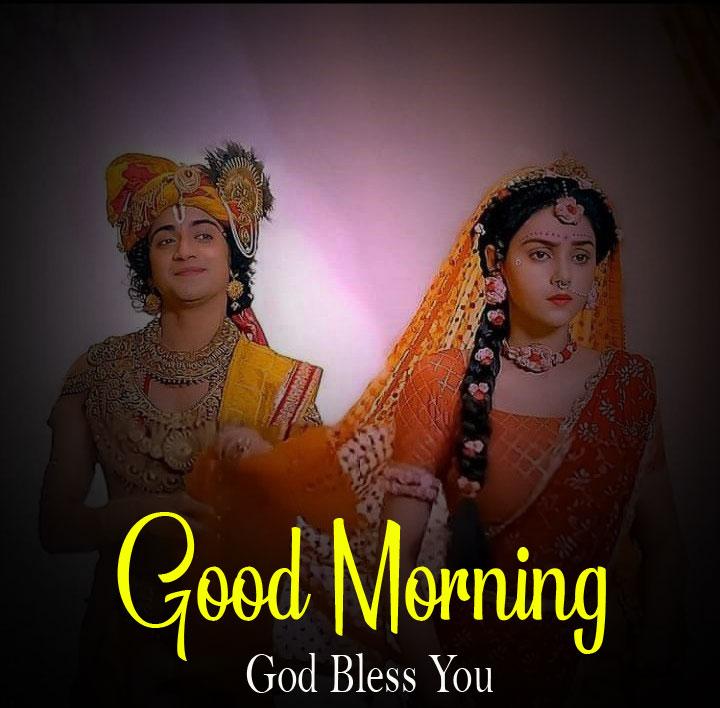 Latest Radha Krishna Good Morning Images photo