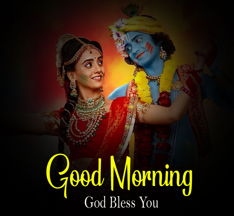 Latest Radha Krishna Good Morning Images pics 2021