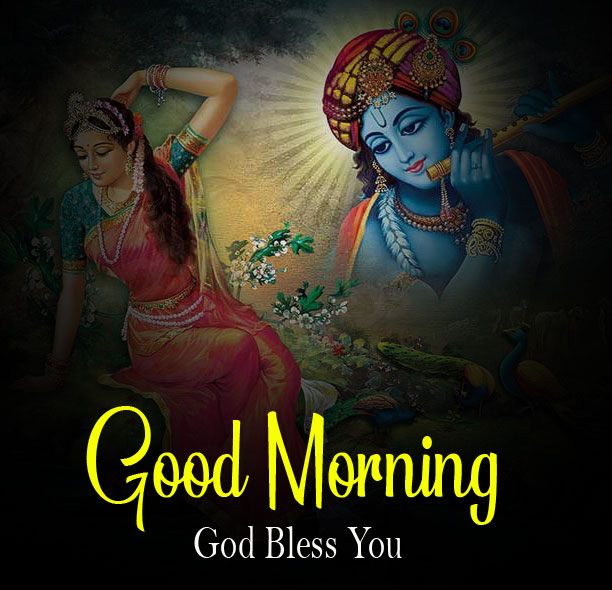 Latest Radha Krishna Good Morning Images pics for hd