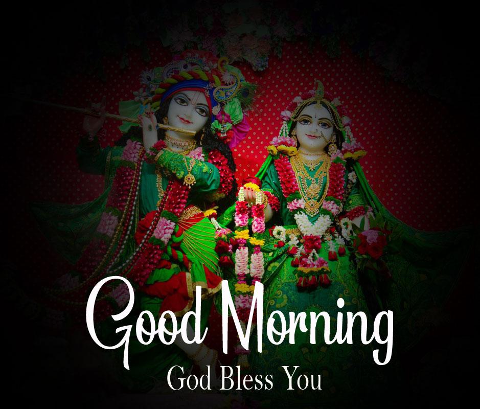 Latest Radha Krishna Good Morning Images pictures photo 2021