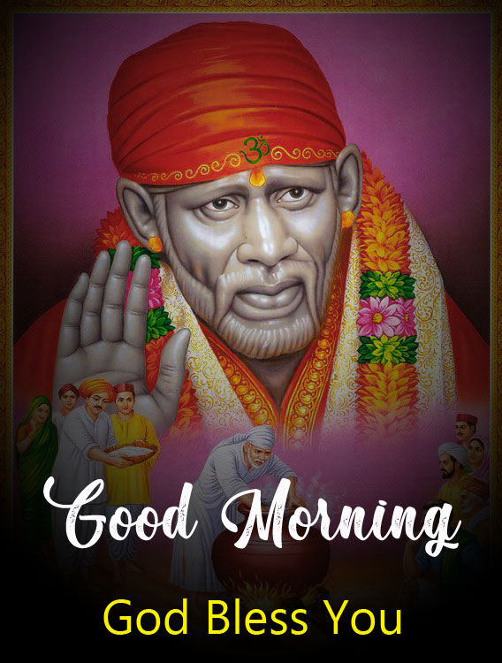 Latest Sai Baba Good Morning Images pics pictures free hd