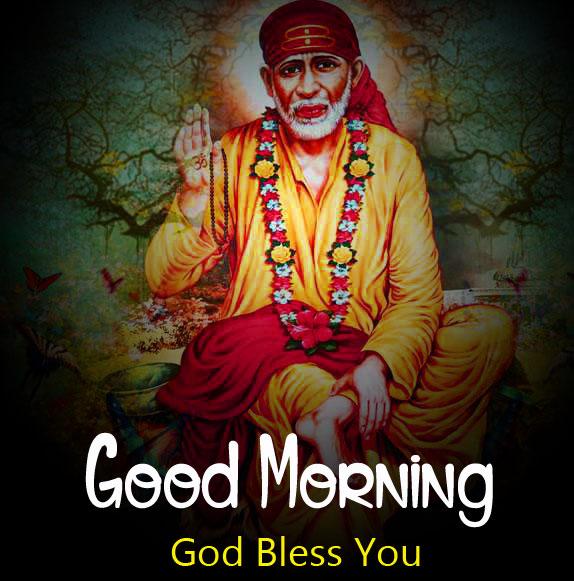 Latest Sai Baba Good Morning Images wallpaper photo download