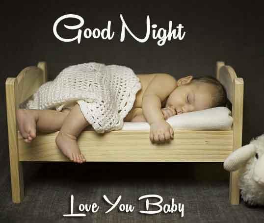 New HD good night cute baby Wallpaper