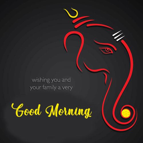 New ganesha good morning images photo pics free hd