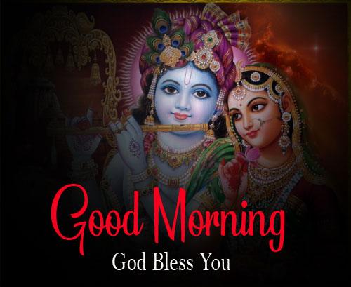 Nice Radha Krishna Good Morning Images for dp