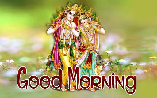 Nice Radha Krishna Good Morning Images photo pics