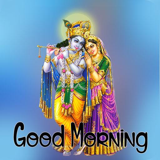 Nice Radha Krishna Good Morning Images pics for hd download