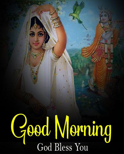 Nice Radha Krishna Good Morning Images wallpaper free hd