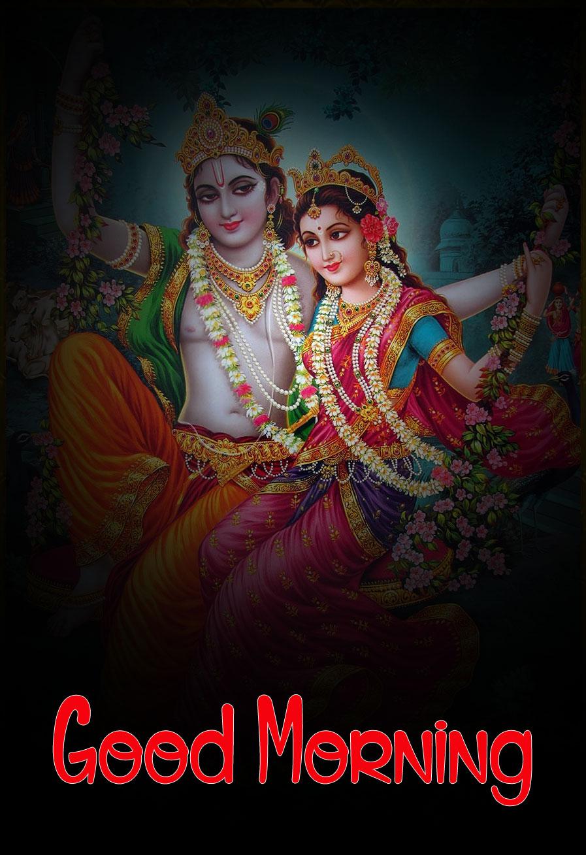 Nice Radha Krishna Good Morning Images