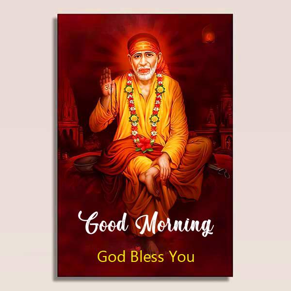 Nice Sai Baba Good Morning Images photo for whatsapp