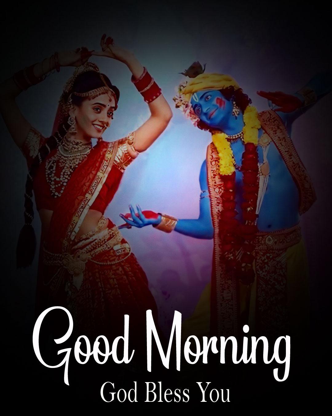 Radha Krishna Good Morning Images photo pics for dp