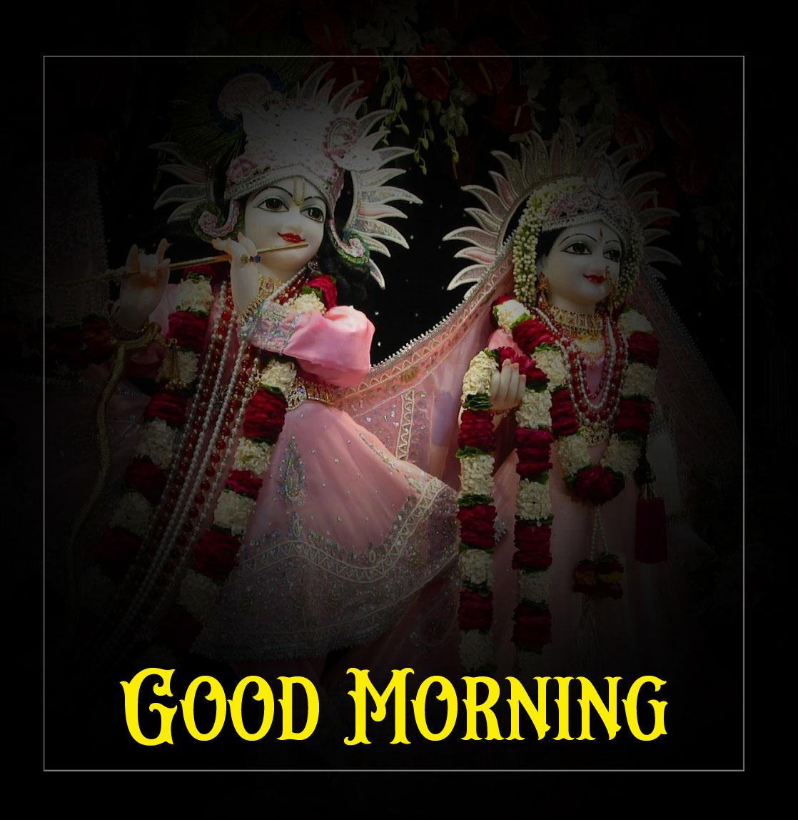 Radha Krishna Good Morning Images photo pics
