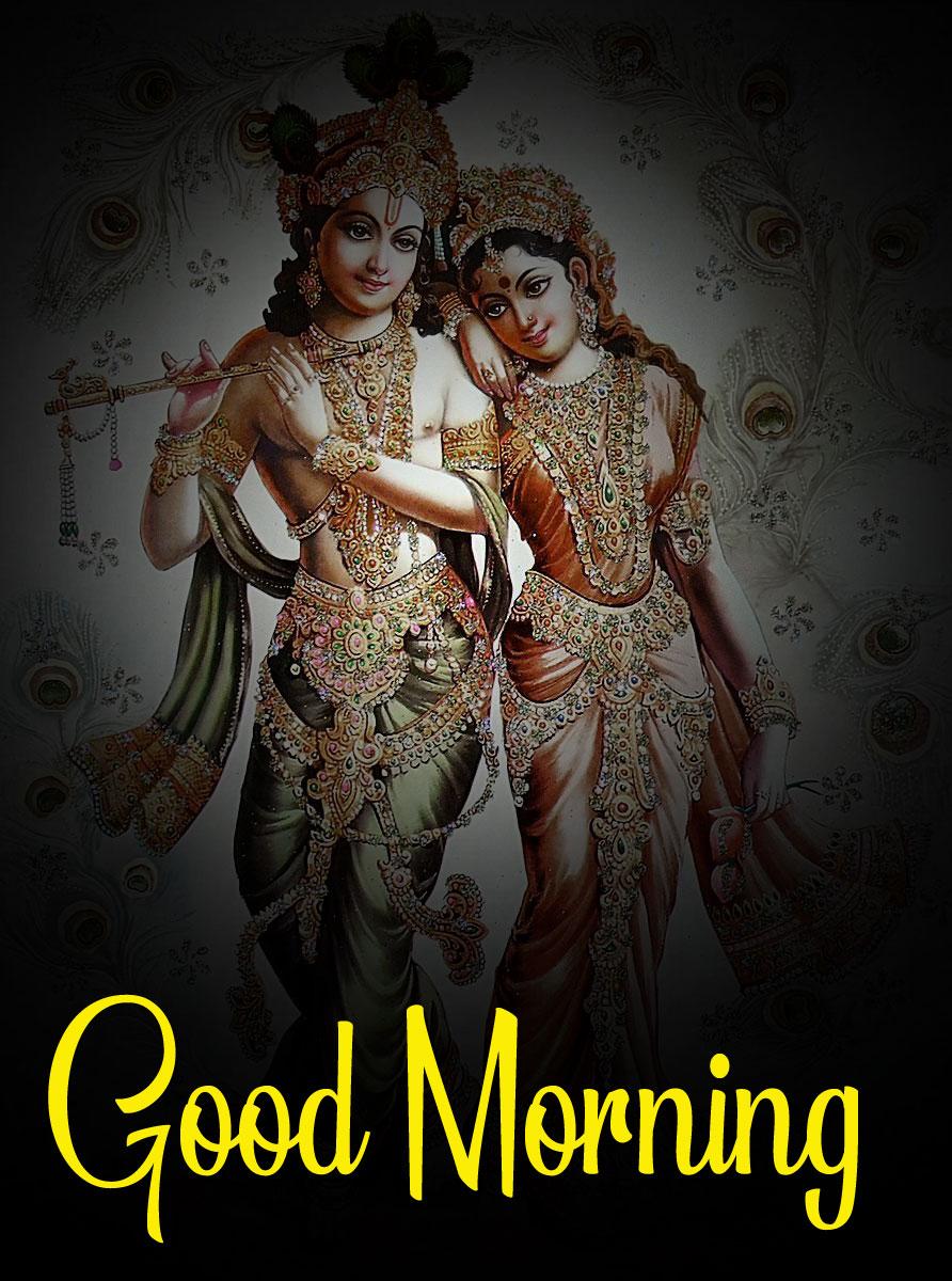 Radha Krishna Good Morning Images pics for dp 2