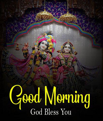 Radha Krishna Good Morning Images pics for dp