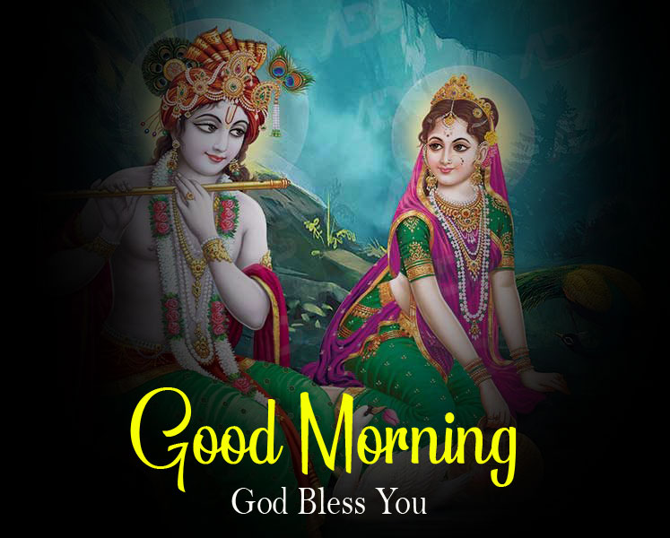 Radha Krishna Good Morning Images pictures for download