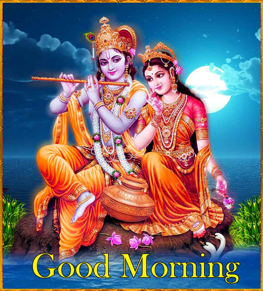 Radha Krishna Good Morning Pics Wallpaper Download