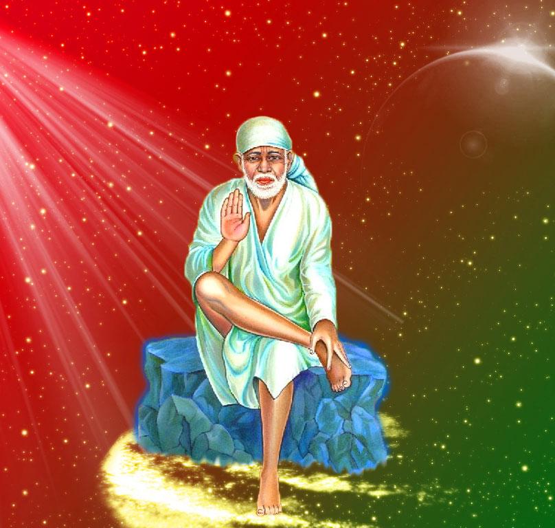 Sai Baba Blessing Images pics full screen