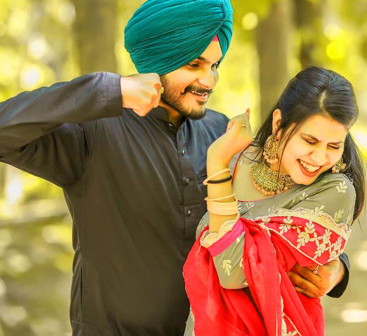 Sweet HD Couple punjabi dp Whatsapp Images
