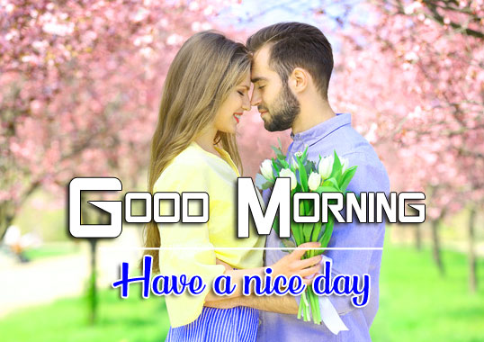 Young cute couple HD Good Morning Wishes