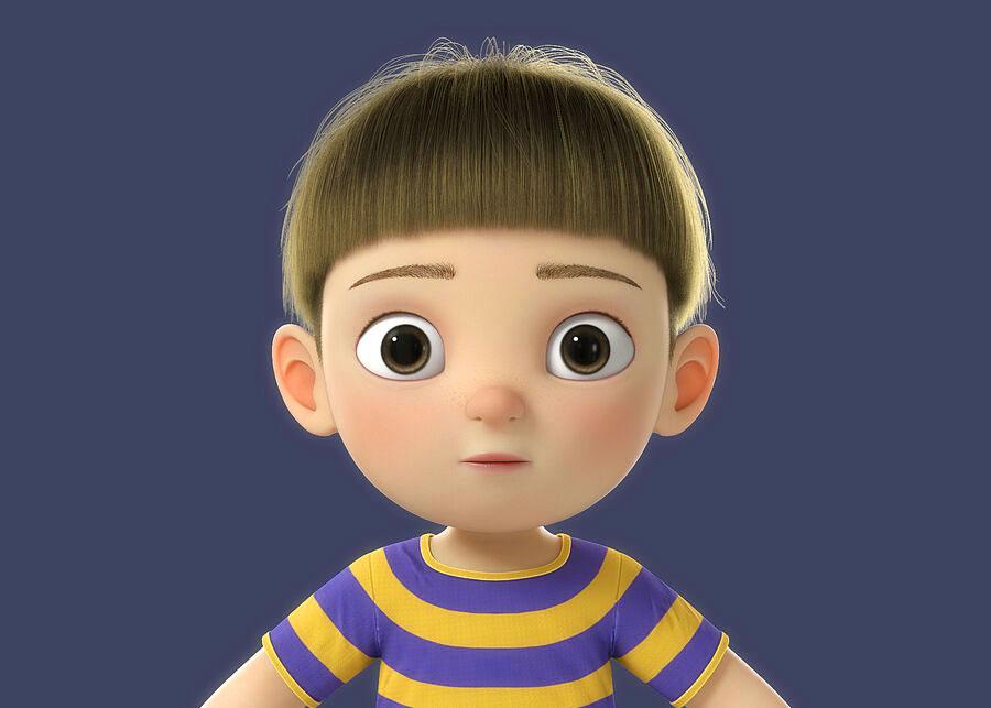 boy free Sad Cartoon Dp Images
