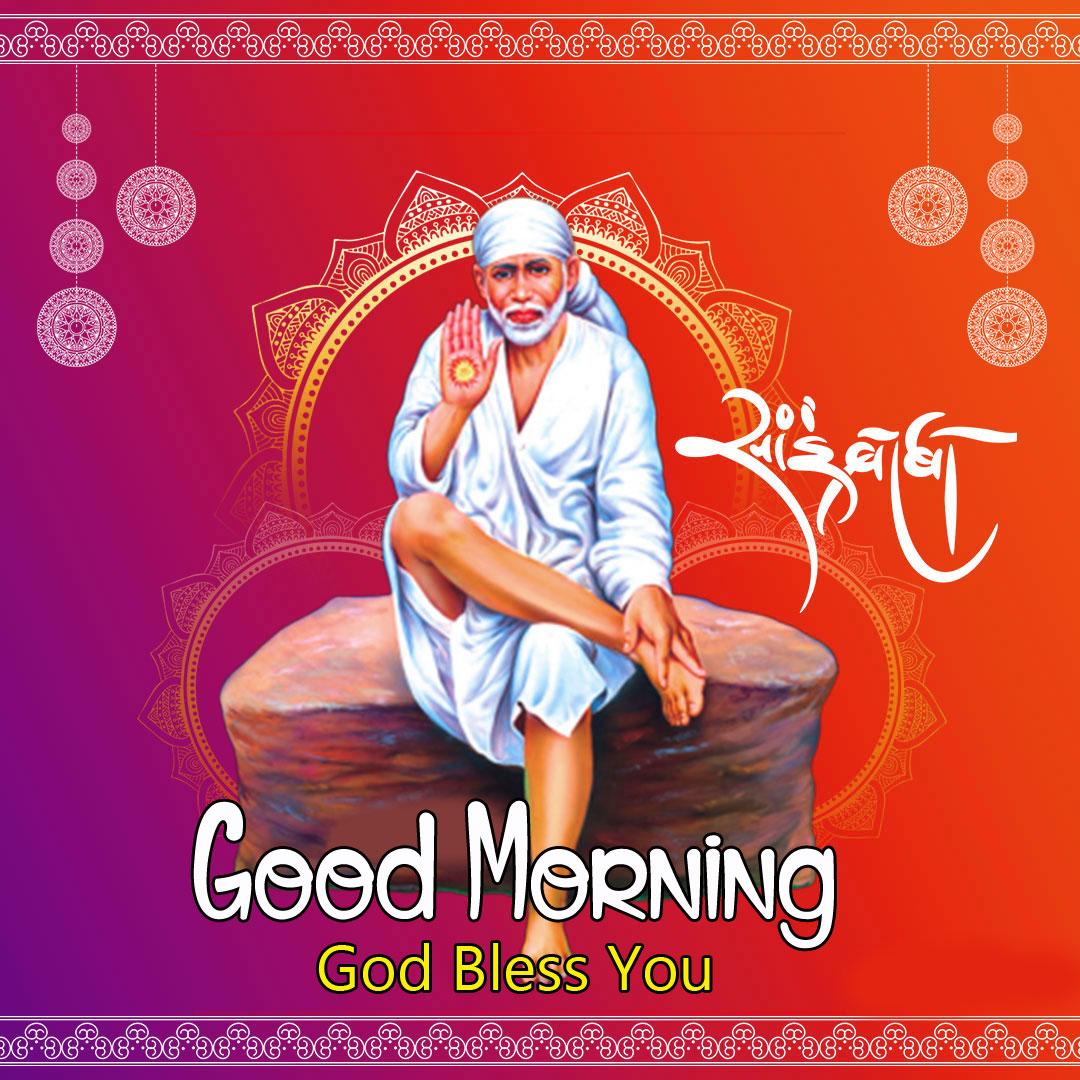 free 2021 Latest Sai Baba Good Morning Images