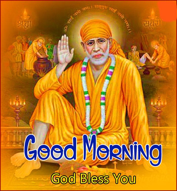 free 2021 Sai Baba Good Morning Images