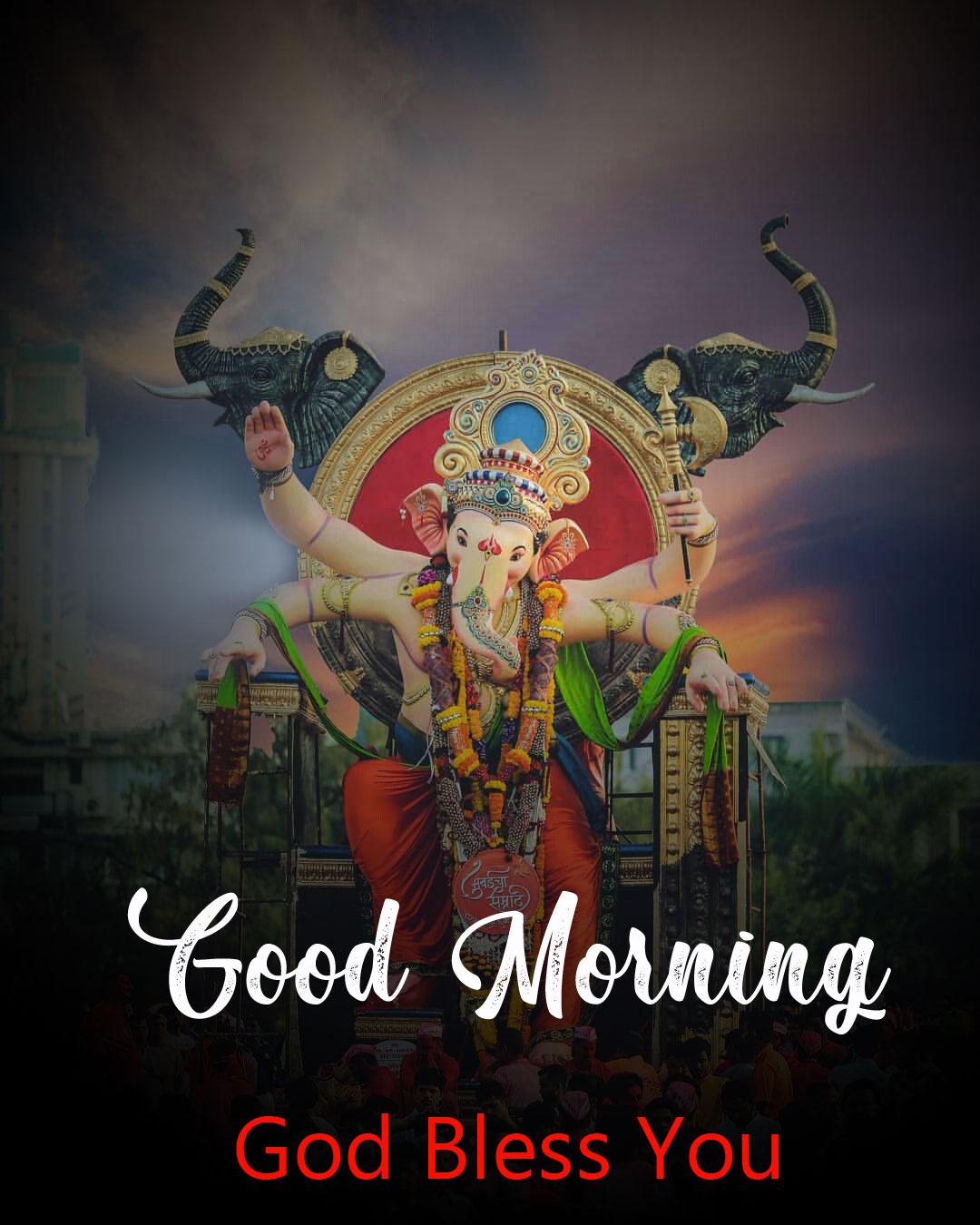free hd ganesha good morning images