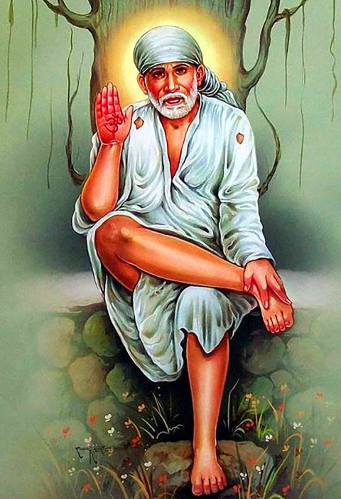 full Beautiful Sai Baba Blessing Images