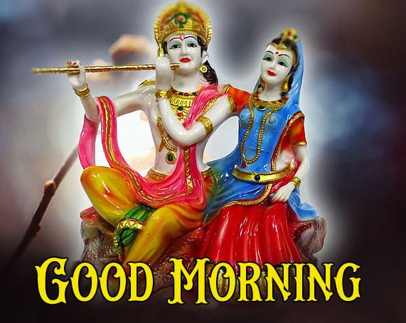 full hd Latest Radha Krishna Good Morning Images