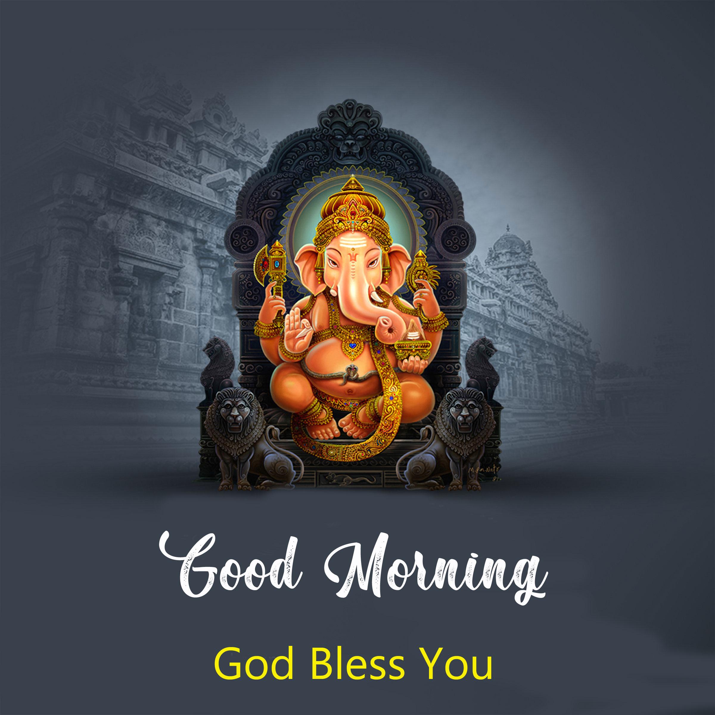 ganesha good morning images photo for hd