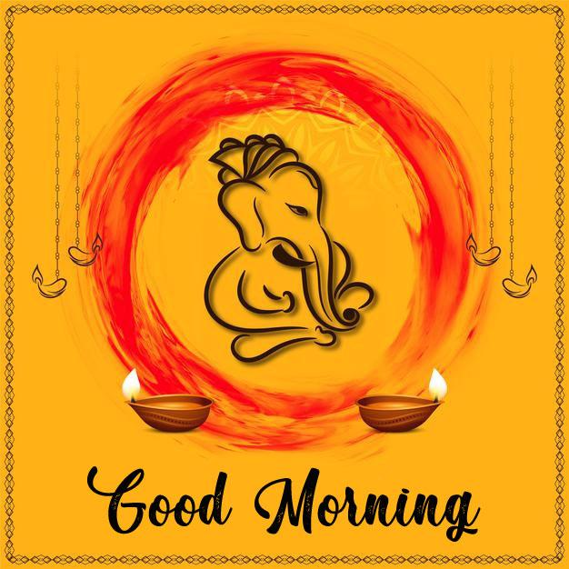 ganesha good morning images photo hd download