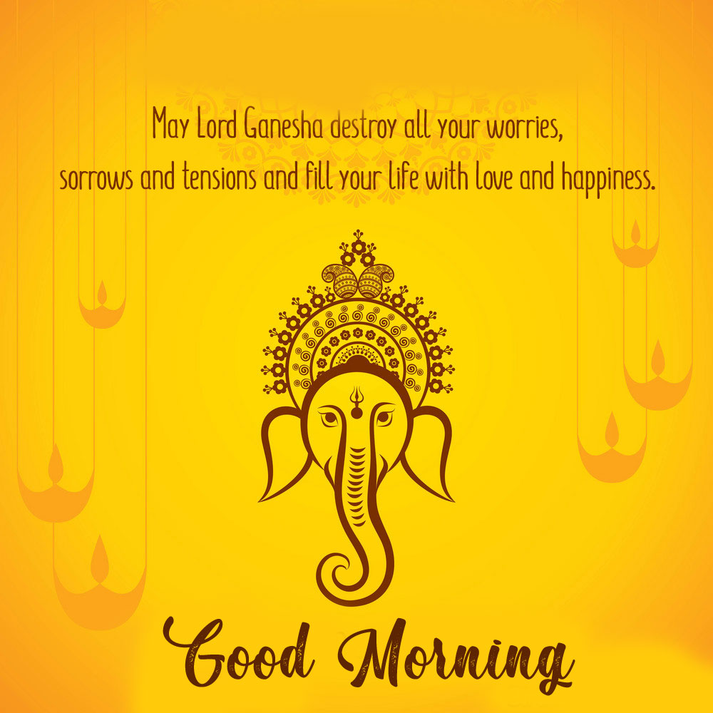 ganesha good morning images photo pics