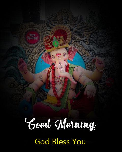 ganesha good morning images wallpaper for whatsapp
