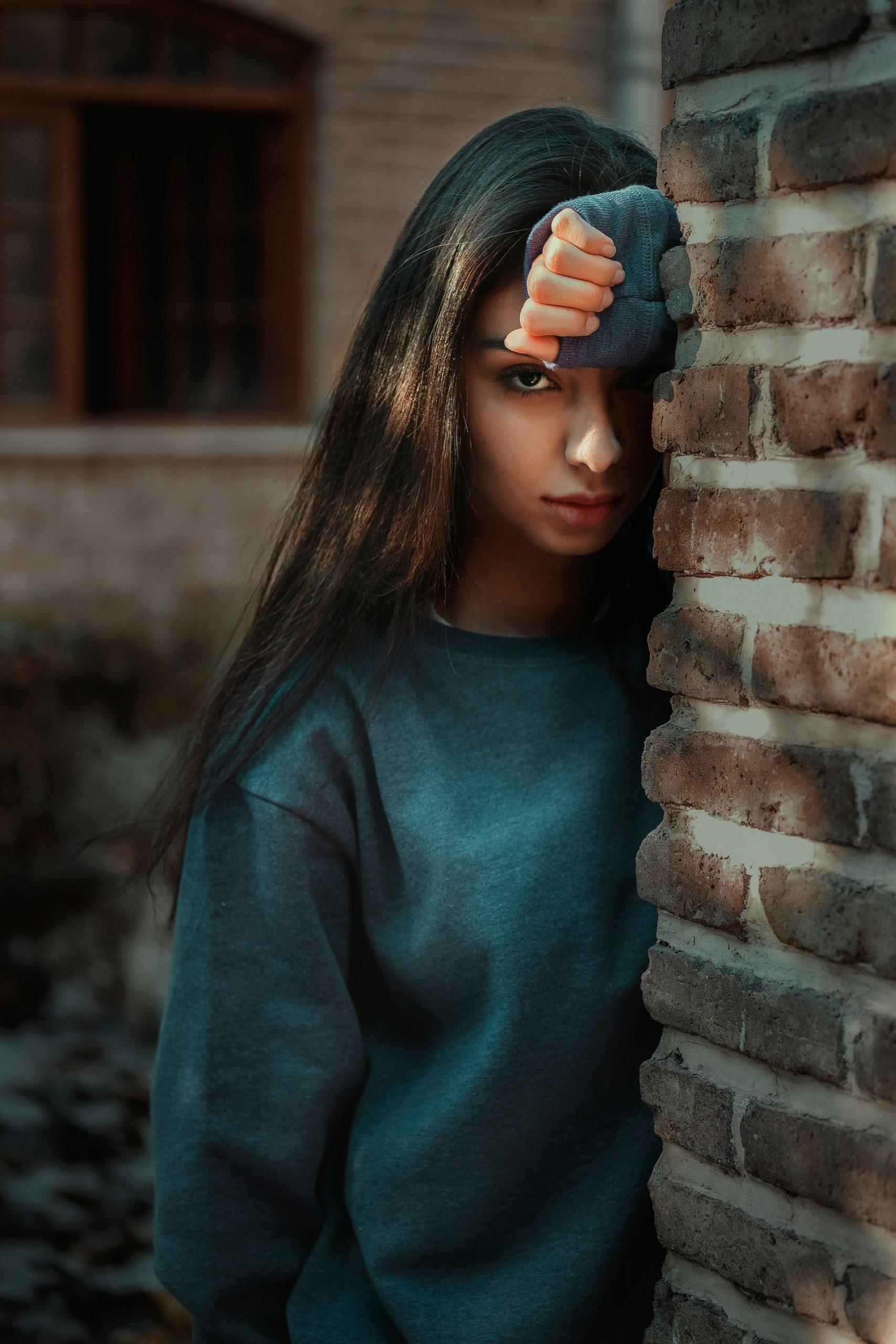 girl New sad face whatsapp dp images photo free hd