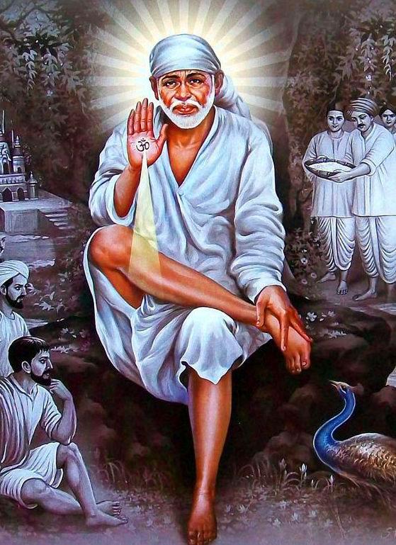 god Beautiful Sai Baba Blessing Images