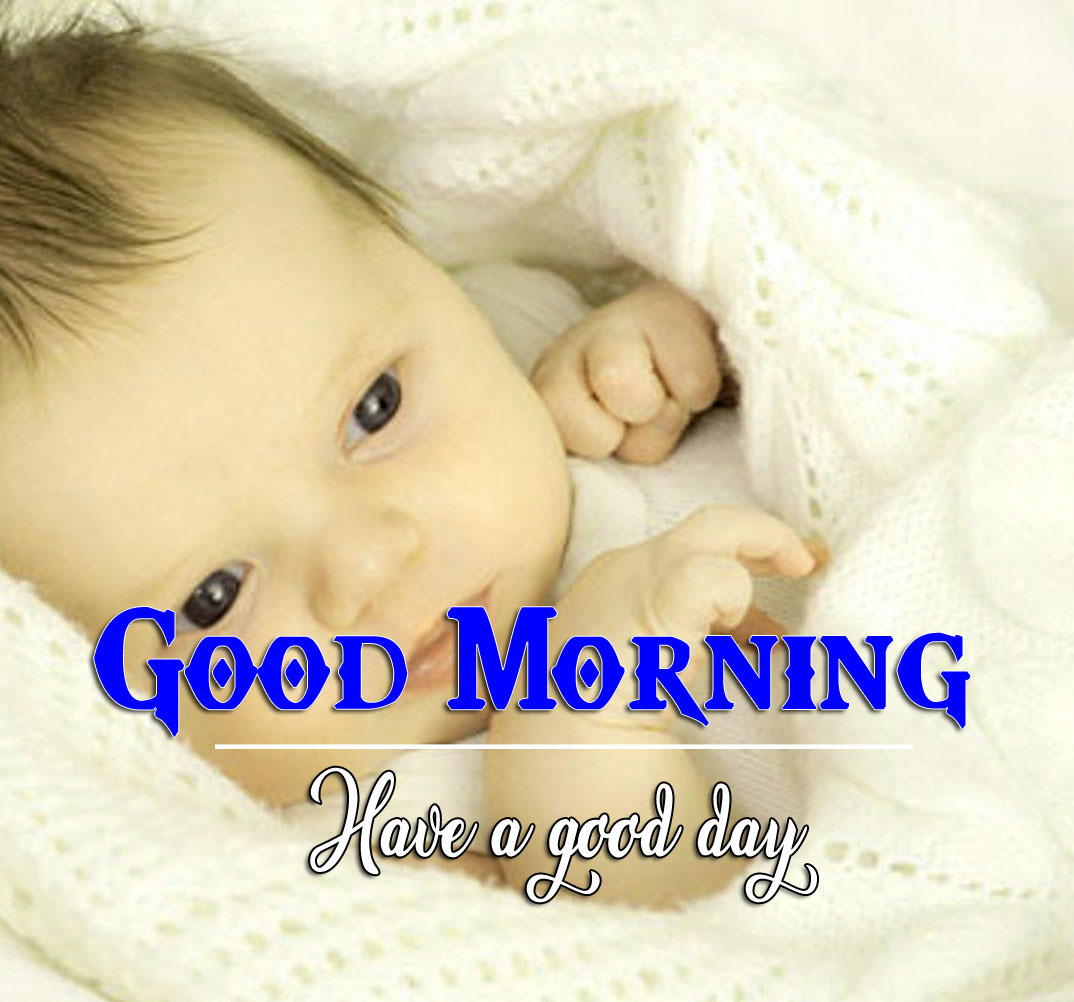 good morning Whatsapp dp Images Pics With Cute Baby Boy