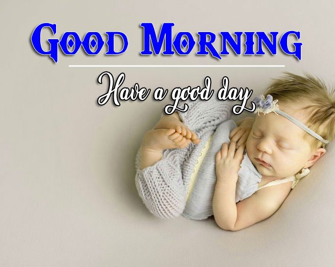 good morning Whatsapp dp Images With Cute Baby