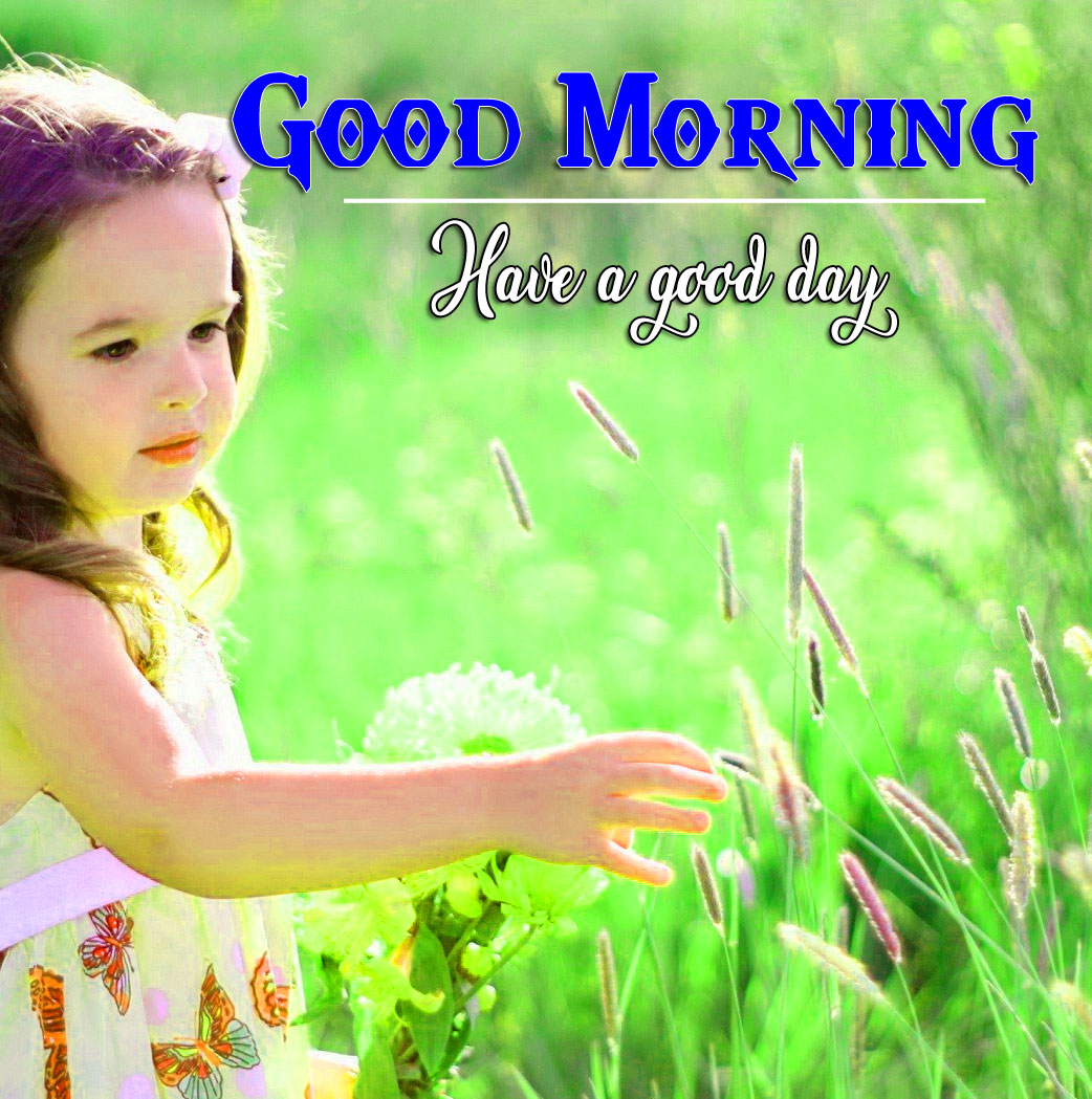 good morning Whatsapp dp Pics Images With Sweet Baby