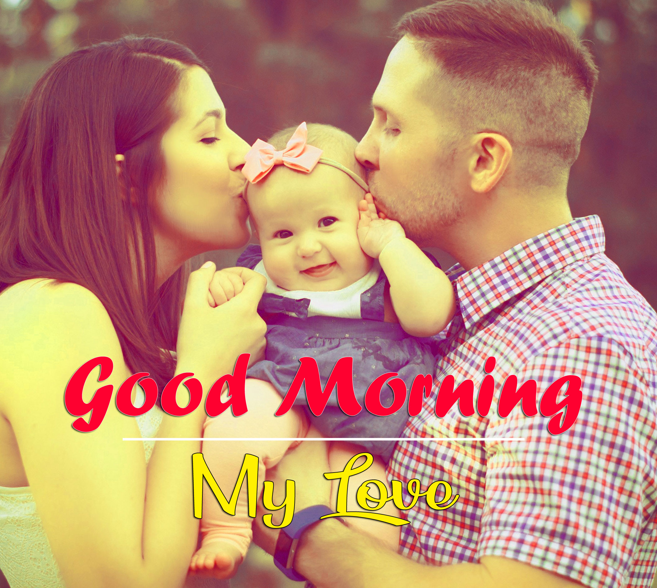 good morning Whatsapp dp Pics With Cute Family